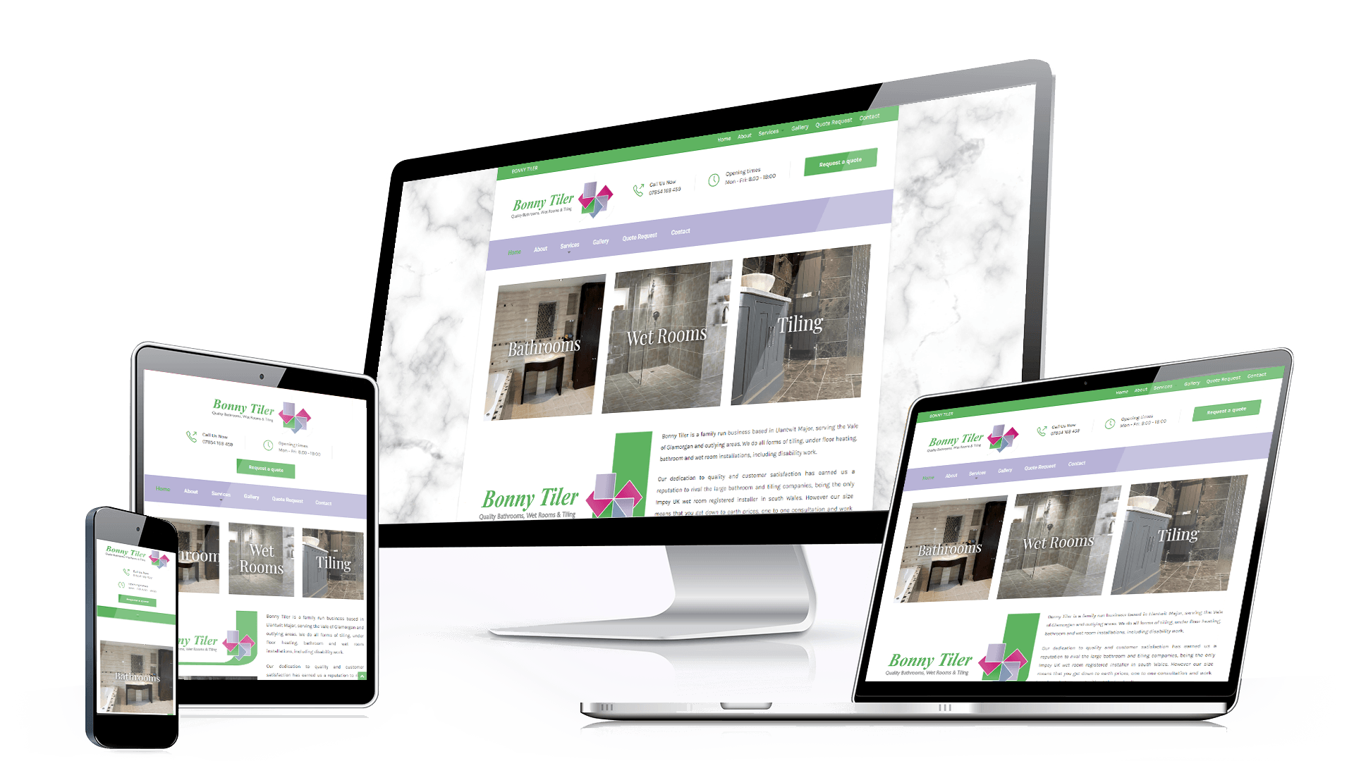bonnytiler-responsive Major Web Design Wales Llantwit Major Barry Cardiff Bridgend